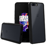 Orzly Fusion Frame Bumper Case for OnePlus 5 - Black / Clear