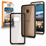 Orzly Fusion Frame Bumper Case for HTC One M9 - Black / Clear