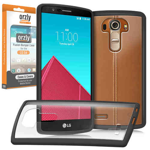 Orzly Fusion Frame Bumper Case for LG G4 - Black / Clear