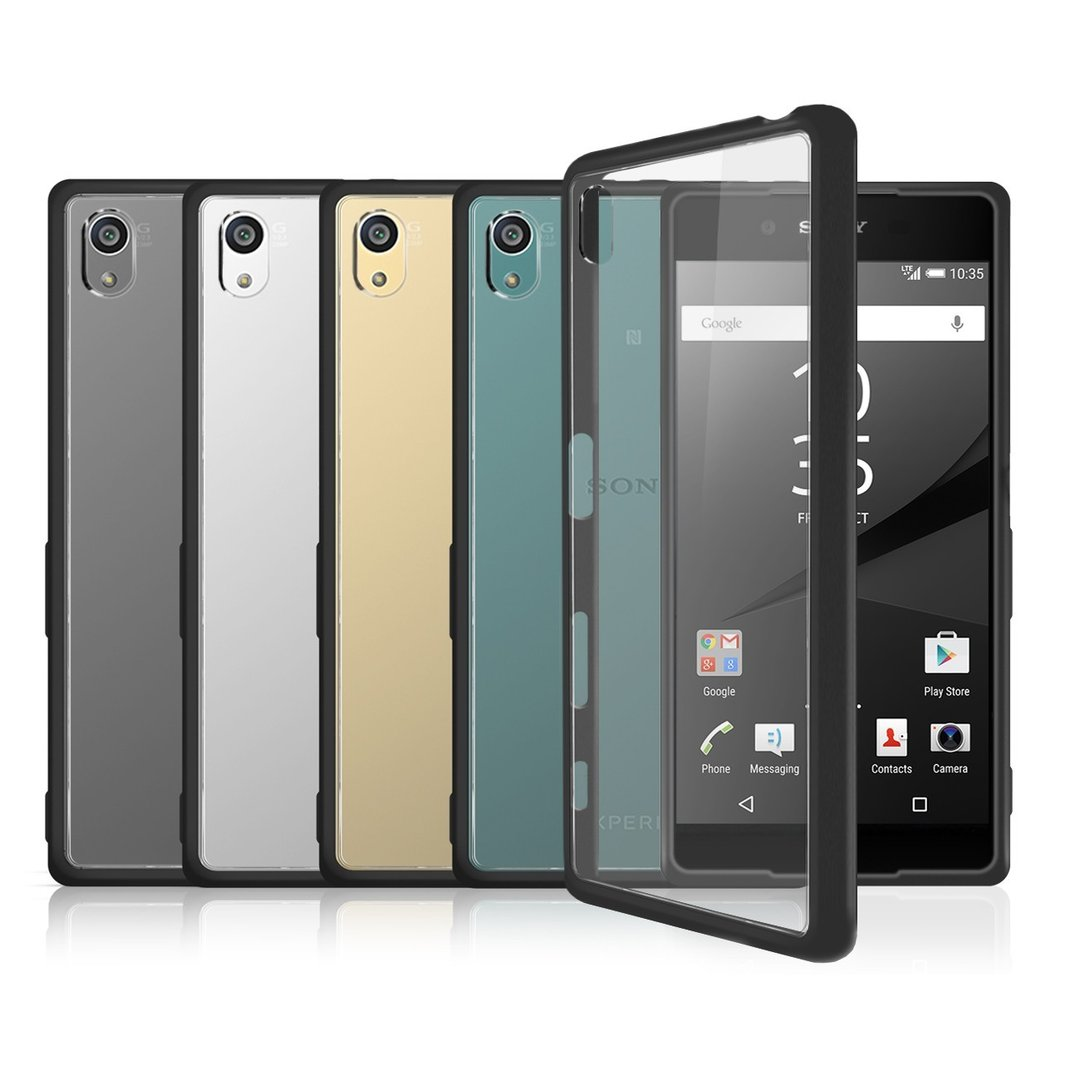 huge selection of 18bad ac622 Orzly Fusion Bumper Case - Sony Xperia Z5 (Black)