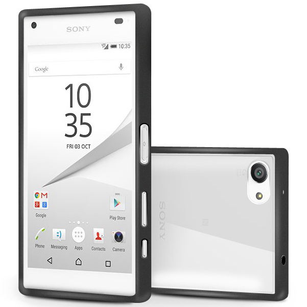 best service fd8fa b25b2 Orzly Fusion Bumper Case - Sony Xperia Z5 Compact (Black)