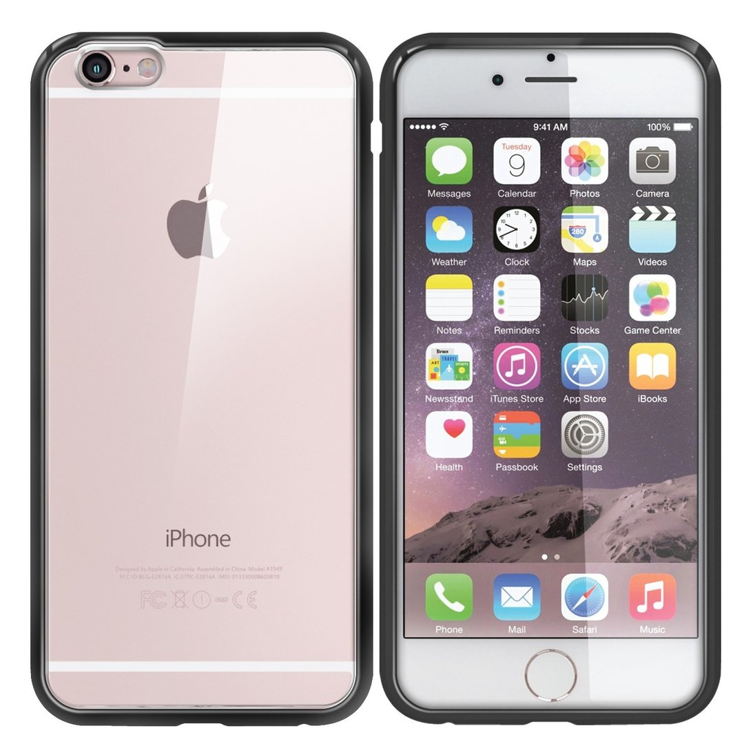 ... Orzly Fusion Frame Bumper Case for Apple iPhone 6s - Black (Clear) ... 933b2562796d