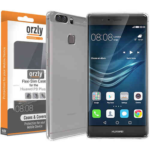 Orzly Flexi Crystal Case for Huawei P9 Plus - Clear (Transparent)