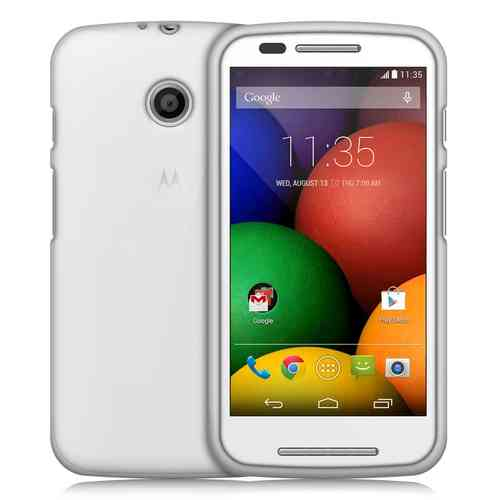 Orzly Flexi Gel Case for Motorola Moto E (1st Gen) - Smoke White