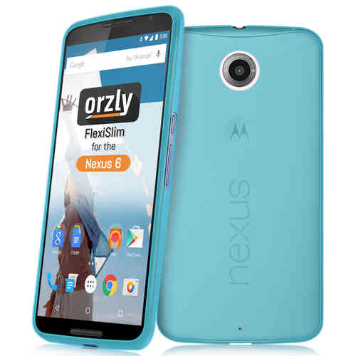 Orzly Flexi Slim Case for Google Nexus 6 - Frosted Blue