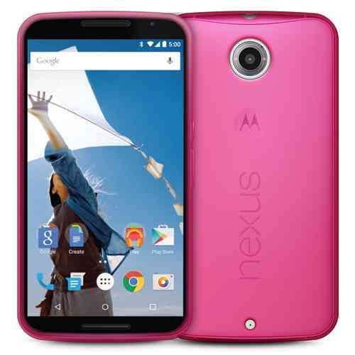 Orzly Flexi Gel Case for Google Nexus 6 - Smoke Pink (Two-Tone)