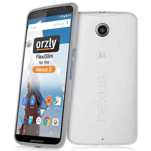 Orzly Flexi Slim Case for Google Nexus 6 - Frosted White