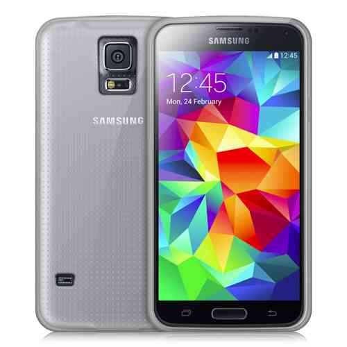 Orzly Flexi Case for Samsung Galaxy S5 Mini - Smoke White (Gloss)