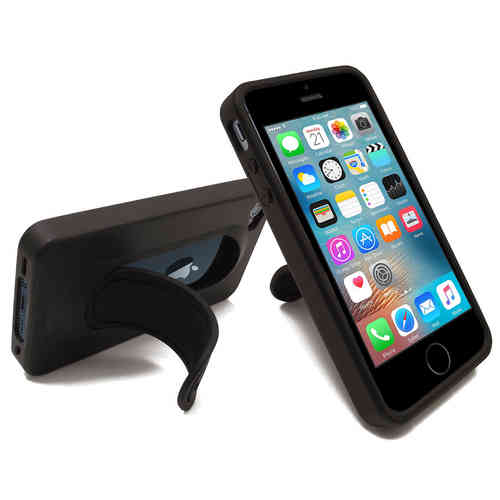 Orzly Flexi Snap Stand Case for Apple iPhone SE / 5s - Black