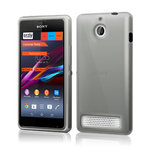 Orzly Flexi Case for Sony Xperia E1 - Smoke Black (Gloss)