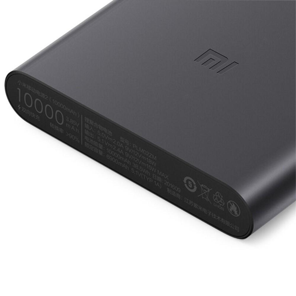 Xiaomi 10000mah Mi Power 2 Fast Charger Bank Black M Plus M5 Ppwerbank 5000 Mah Silver Usb