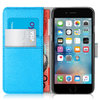 Orzly Leather Wallet & Card Slot Case for Apple iPhone 6s Plus - Blue