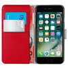 Orzly Leather Wallet & Card Slot Case for Apple iPhone 6s Plus - Red