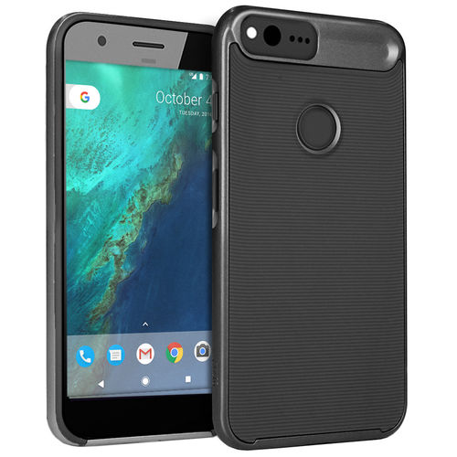 Orzly AirFrame Hybrid Bumper Case for Google Pixel Phone - Black