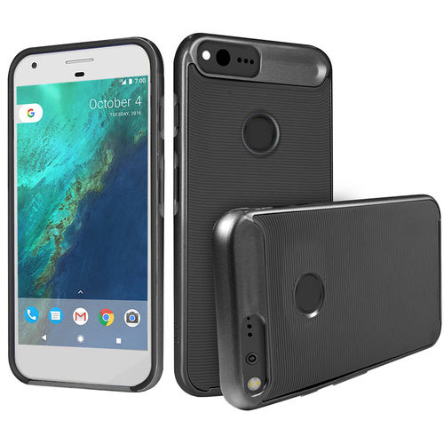 Orzly AirFrame Hybrid Bumper Case for Google Pixel XL Phone - Black