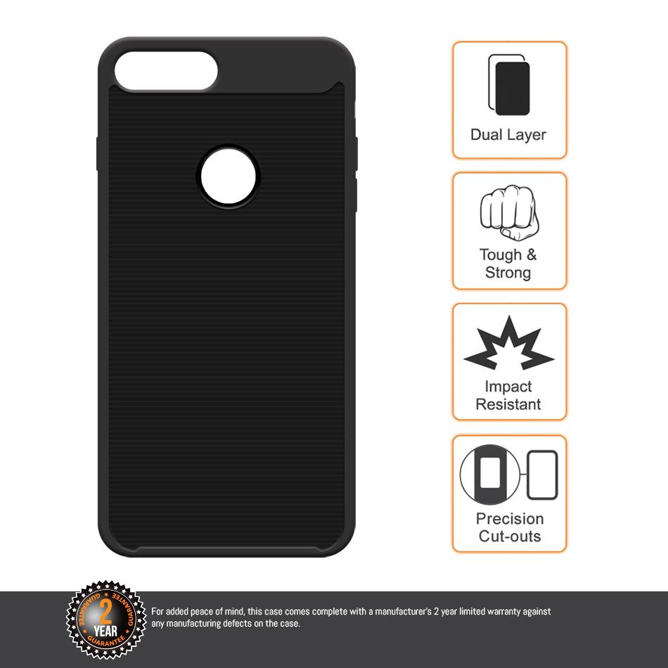 wholesale dealer 49d9f c1332 Orzly AirFrame Bumper Case - iPhone 8 Plus / 7 Plus (Black)