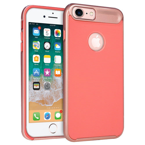 Orzly AirFrame Hybrid Bumper Case for Apple iPhone 8 / 7 / 6s - Pink