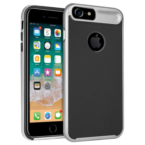 Orzly AirFrame Hybrid Bumper Case for Apple iPhone 8 / 7 / 6s - Silver