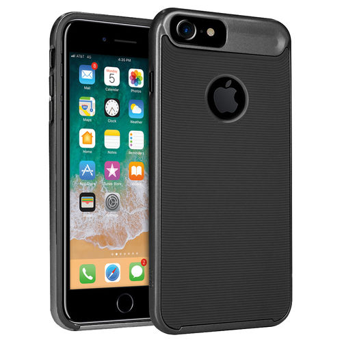 Orzly AirFrame Hybrid Bumper Case for Apple iPhone 8 / 7 / 6s - Black