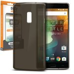 Orzly Flexi Gel Case for OnePlus 2 - Smoke Black (Gloss Grip)