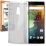 Orzly Flexi Case for OnePlus 2 - Smoke White (Gloss)