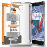 Orzly Flexi Case for OnePlus 3 / 3T - Clear (Transparent)