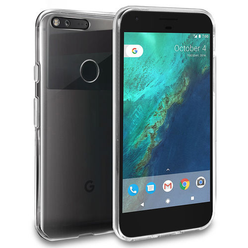 Orzly Flexi Slim Case for Google Pixel XL - Clear (Transparent)