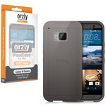 Orzly Flexi Case for HTC One M9 - Smoke Black (Gloss)
