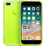 Orzly Flexi Gel Case for Apple iPhone 8 Plus / 7 Plus - Fluro Green