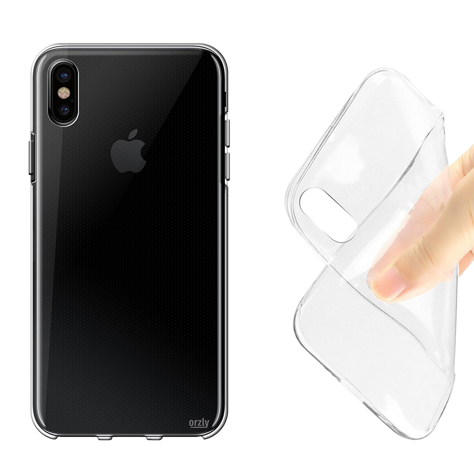 premium selection 36f68 a1ceb Orzly Flexi Gel Case for Apple iPhone Xs (Clear)