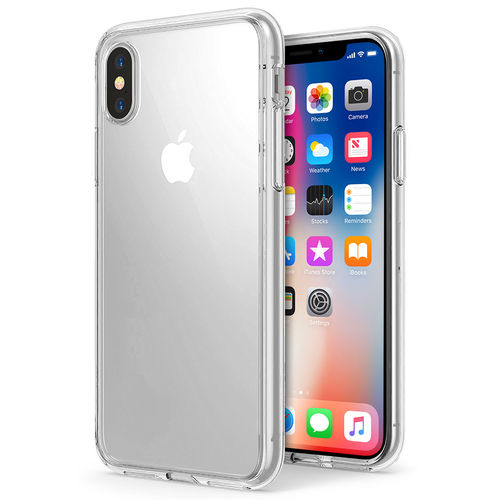 Orzly Flexi Gel Case for Apple iPhone X - Clear (Transparent)