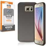 Orzly Flexi Case for Samsung Galaxy S6 - Smoke Black (Gloss)