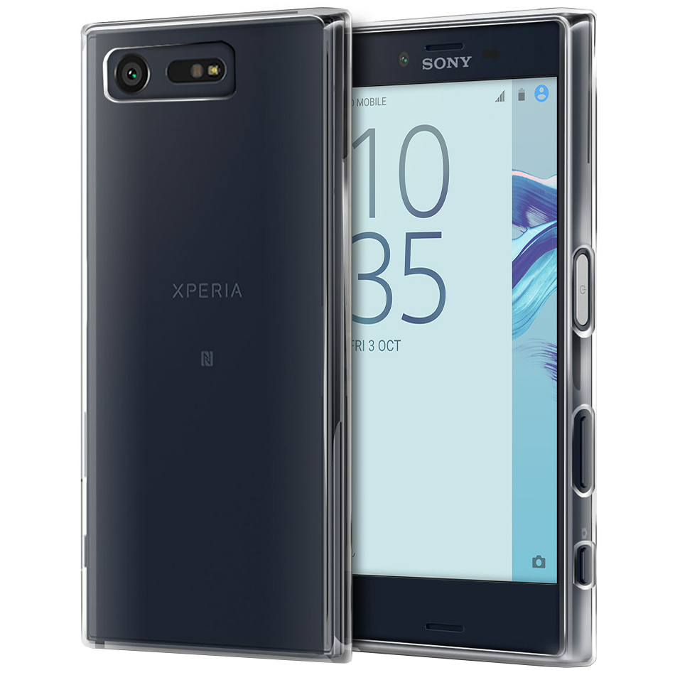 buy popular b766e b3161 Orzly Flexi Gel Case - Sony Xperia X Compact (Clear)