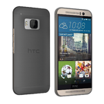 Orzly Flexi Slim Case for HTC One M9 - Smoke Black (Matte)
