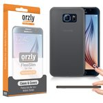 Orzly FlexiSlim Case for Samsung Galaxy S6 - Smoke Black (Razor-thin)