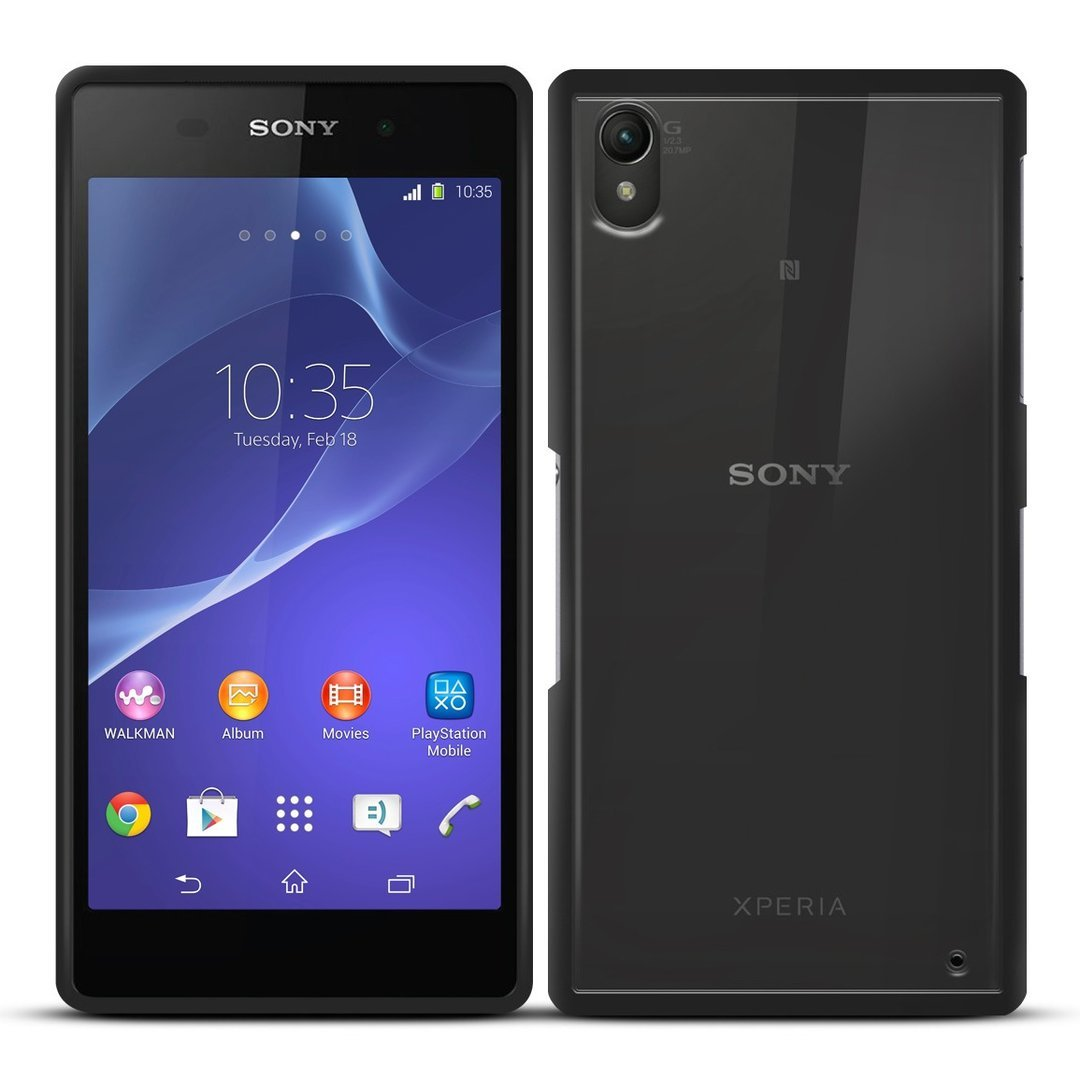 buy online 06acf 86458 Sonivo Fusion Bumper Case - Sony Xperia Z2 (Black)