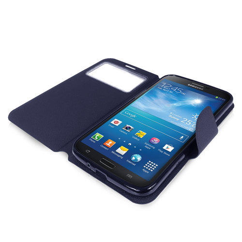 Sonivo Sneak Peak Wallet Case for Samsung Galaxy Mega 6.3 - Blue
