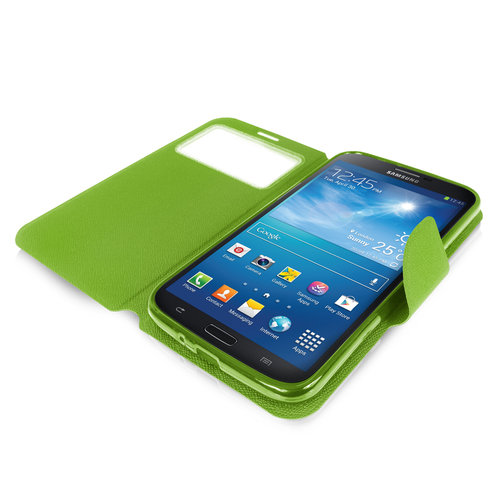 Sonivo Sneak Peak Wallet Case for Samsung Galaxy Mega 6.3 - Green