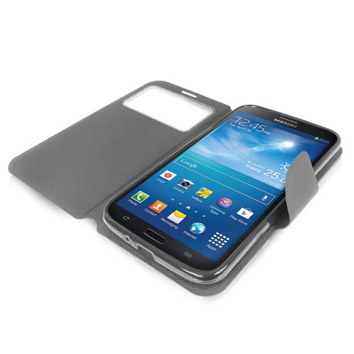 Sonivo Sneak Peak Wallet Case for Samsung Galaxy Mega 6.3 - Grey