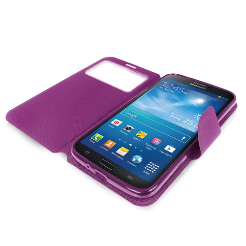 Sonivo Sneak Peak Wallet Case for Samsung Galaxy Mega 6.3 - Purple