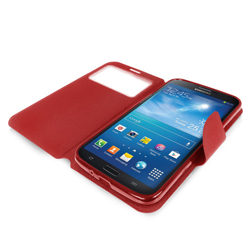 Sonivo Sneak Peak Wallet Case for Samsung Galaxy Mega 6.3 - Red