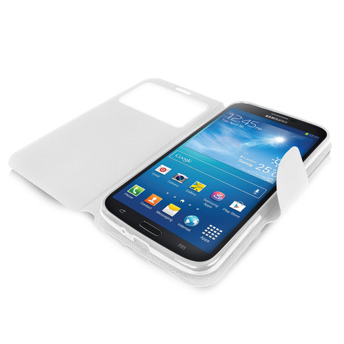 Sonivo Sneak Peak Wallet Case for Samsung Galaxy Mega 6.3 - White
