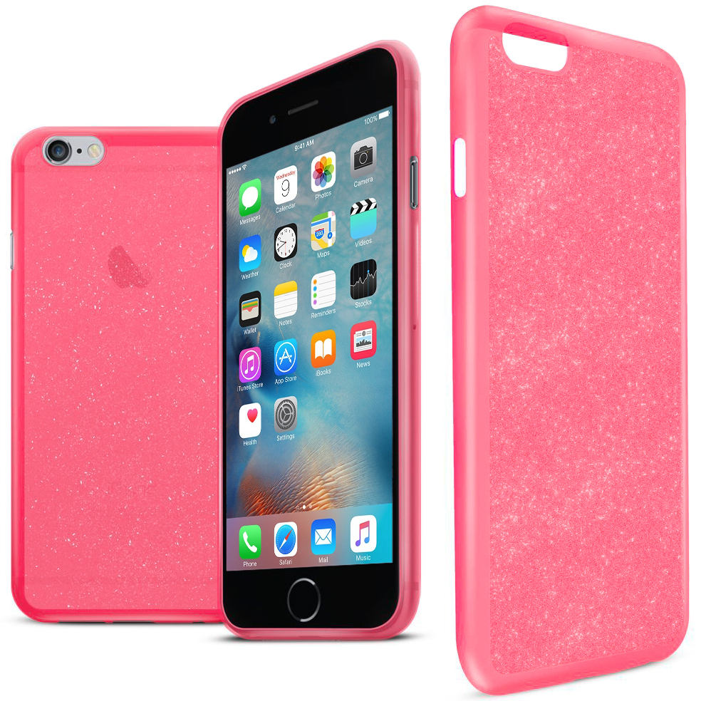 Orzly Stardust Glitter Sparkle Case for Apple iPhone 6   6s - Pink ... 5535be5e6856