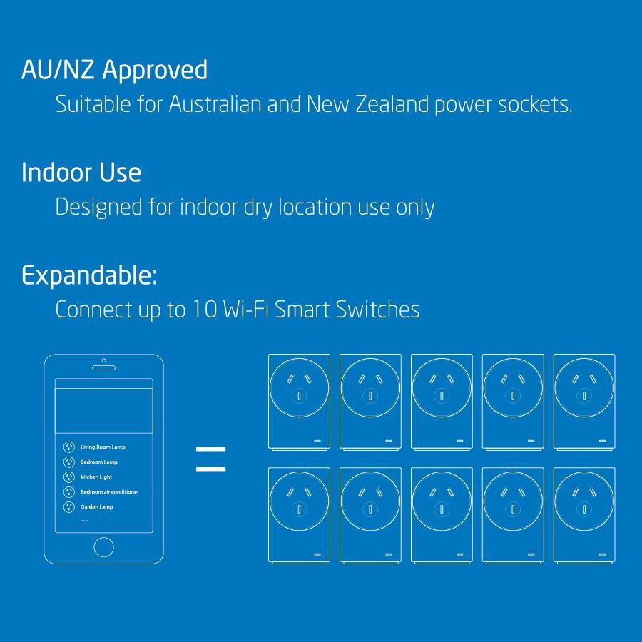 Laser Wifi Smart Home Power Switch Wireless Controller Wiring A Light Socket New Zealand Plug