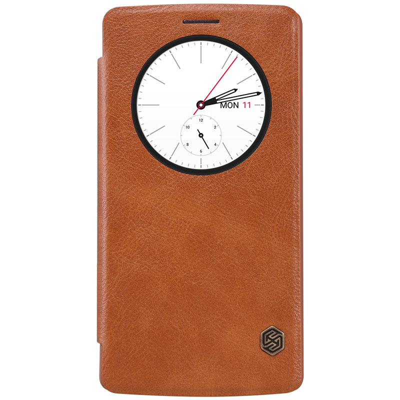 quality design 0ed5c 22fcf Nillkin Qin Quick Circle Leather Case - LG G4 (Brown)