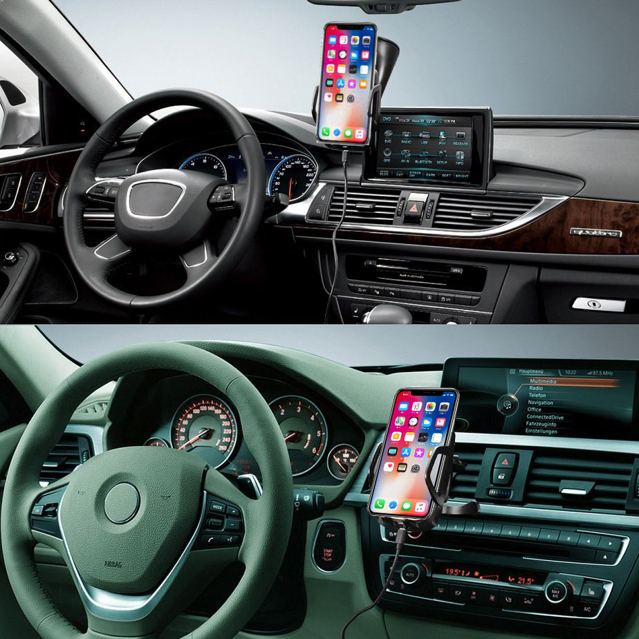 reputable site 68983 6fffd Qi Wireless Charging Car Mount - Apple iPhone X / iPhone 8 Plus