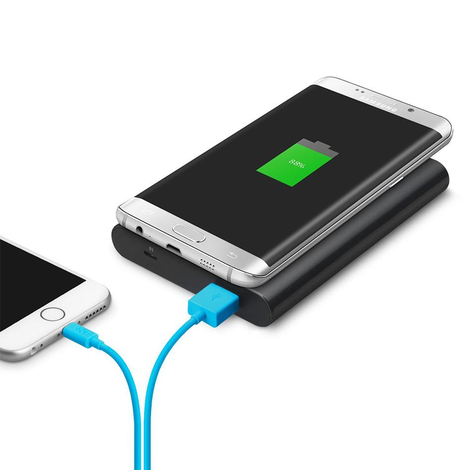 7000mAh Qi Fast Wireless Charging Power Bank (Black)