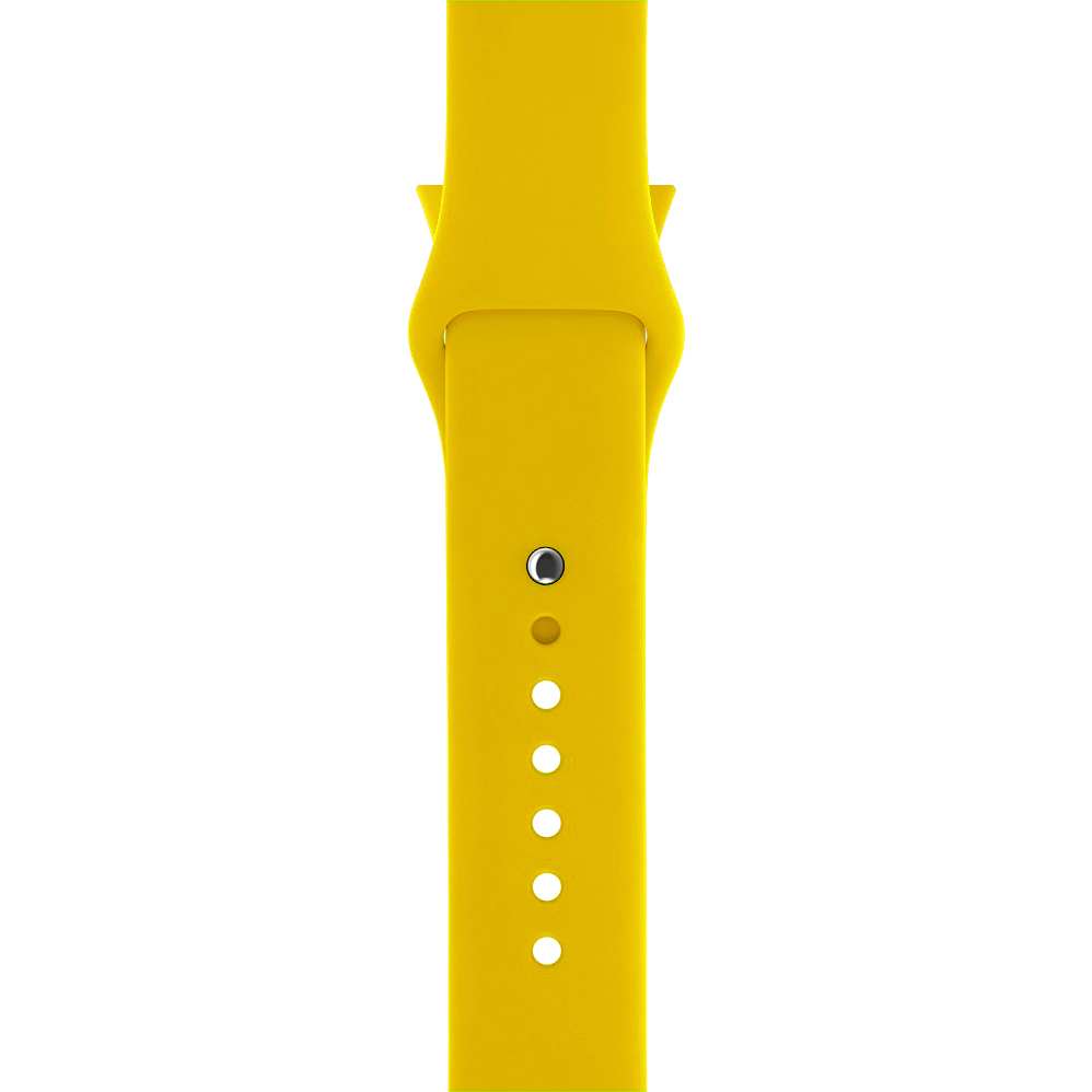 Silicone Sport Strap Band Apple Watch 42mm Yellow Smart Replacement