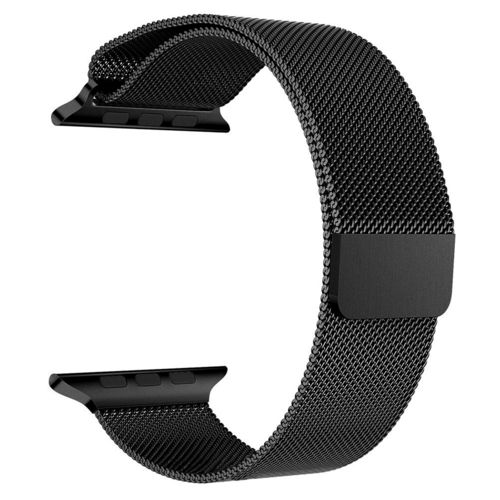 Black Milanese Loop Magnetic Stainless Steel Band - Apple Watch 38mm