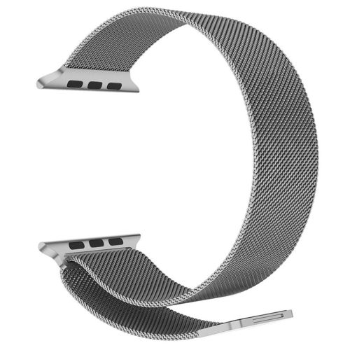 Silver Milanese Loop Magnetic Stainless Steel Band - Apple Watch 38mm